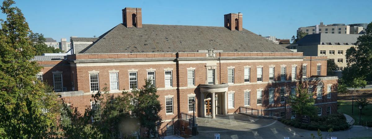 Hudson Hall on the campus of Duke University