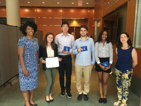 From left to right: Dr. Johnna Frierson, Megan Ogle, Chris Zhou, Enrique del Castillo, Kosa Johnson, and Dr. Carmen Rawls