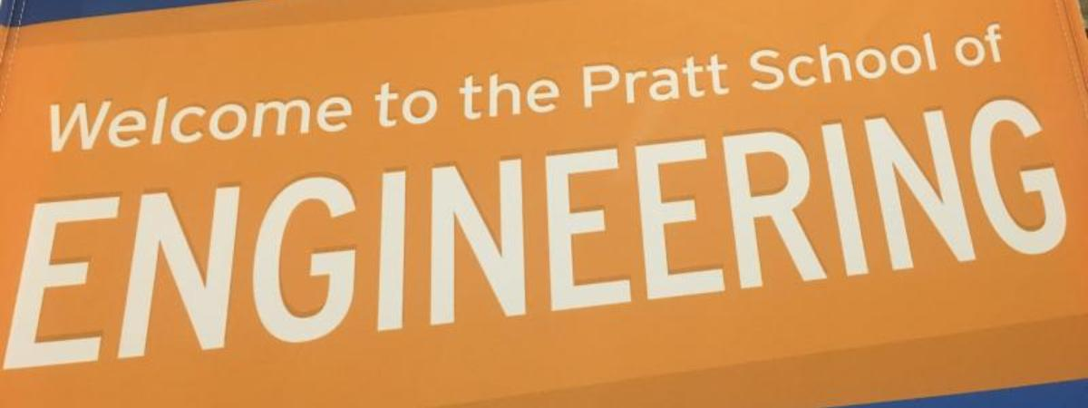 Welcome banner at Duke University